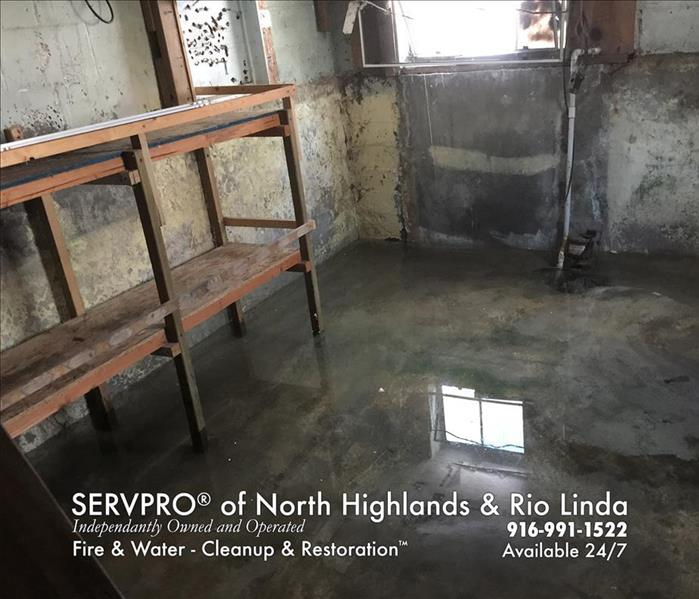 Water Damage Sacramento Residents: We Specialize in Flooded Basement Cleanup and Restoration!